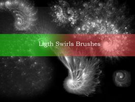 Ligth Swirl Brushes by Kittyd-Stock