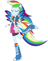 Rainbowfied Rainbow Dash by shaynelleLPS