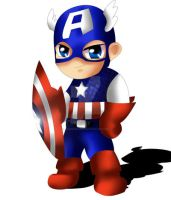 Captain America Chibi by ExoroDesigns