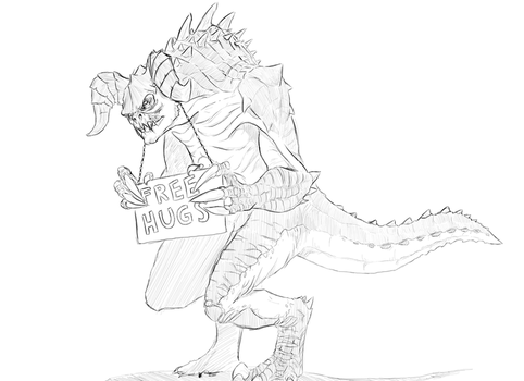 Deathclaw Free hugs by BlibSergiogalli