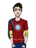 AU College - Tony Stark by riotfaerie