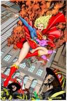 Supergirl saves the day -color by powerbook125