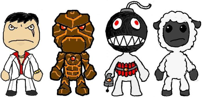 Four lbp costumes by Harris0n