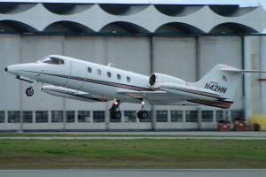 Learjet takeoff by tdogg115