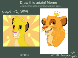 Draw It Again Simba by Musicalmutt2
