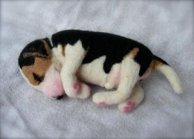 Custom Needle Felted Beagle 3 by CVDart1990