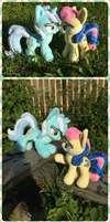 Lyra and Bonbon couple My Little Pony plush toy by Ketikaket
