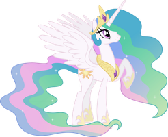 Happy Princess Celestia (5) by 90Sigma