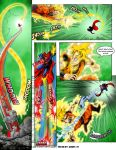 Superman VS Goku page 9 Color by Ratatman