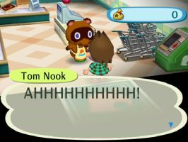tom nook is freak'n out by kaykaykutie