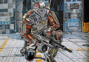 Advanced warfare - Custom Outfit (colour version) by Thelostsoulofpop