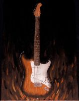- Flaming Guitar - by IskaDesign