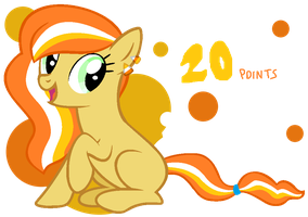 Candy Corn pony adoptable CLOSED by BronyBase