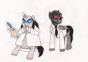My Little Hugo and Black Mask by 13foxywolf666