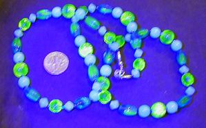 uranium-glass necklace 2:UVvis by wombat1138