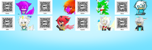 Mii QR-Codes of my characters by KenotheWolf