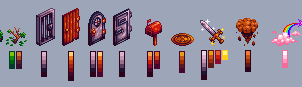 Various Pixel Objects by RedKnight91
