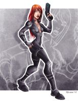 Black Widow by TedKimArt