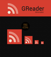 Google Reader Minimalist icon by Draganja