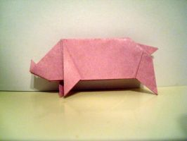Origami Pig by beginthebegin