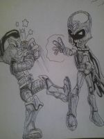 magneto vs colossus by artkid01