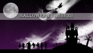 Halloween Brushes by s3vendays