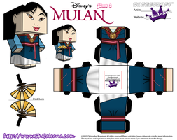 Cubeecraft of Mulan in her Saving China Dress Pt2 by SKGaleana