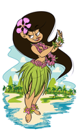 Hula Girl by Jose-Miranda