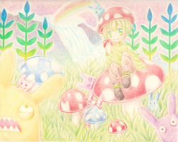 Mushrooms and Rabbits by Nait-x