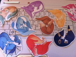 Eeveelution Stickers by grandifloru