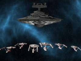 Federation VS Empire by davemetlesits