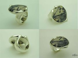 Porcelain Jasper Silver Ring by orfeujoias