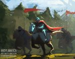 Charging knights / 30-minute spitpaint by andylamarca