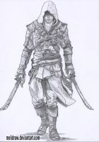 Edward Kenway by Melidraw