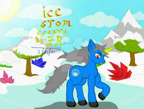 Ice Storm create by me Felix Rivera thats me  by King-Fire-Storm