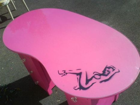 Finished - Pink Dressing Table by chaotickitty
