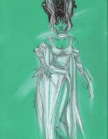 Bride of Frankenstein 021511 by raccoon-eyes