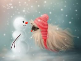 Snowy and Piggy by Sangelus