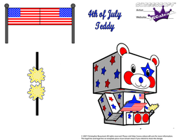 4th of July Teddy Bear Stars and Stripes Part 2 by SKGaleana