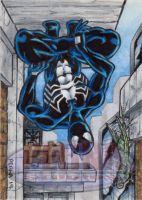 Spider-Man (Black Costume) - Sketch Card by tonyperna
