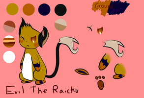 Evil The Raichu by TailTehEeveelution
