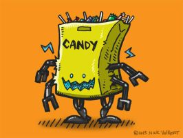 Bag of Candy Bot II by nickv47
