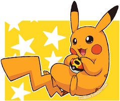 Pokemon Day: Shiny Pikachu by Volmise