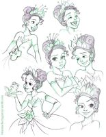 Tiana Sketches by briannacherrygarcia