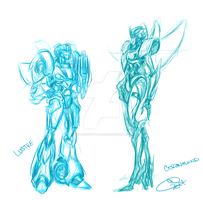 TF OC sketch Lustre+Coronawind by BLACK-HEART-SPIRAL
