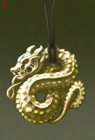 dragon pendant by bonegoddess
