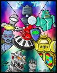 Tom Servo and MechaGodzilla: Charge of the Robots by earthbaragon