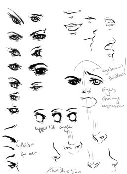 Eyes, noses, mouths by Laurir