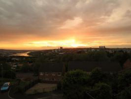 Sunset Over Newcastle by InDeepSchit