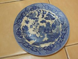 antique china plate by crackpotstock